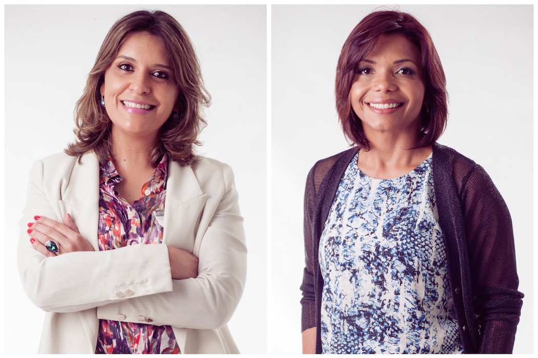 Cristiane Villar e Evanete Santos